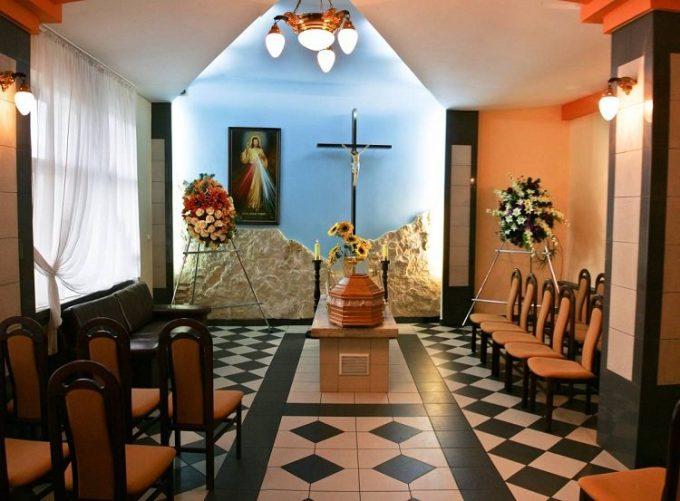 Wnętrze Kaplicy Zakładu Pogrzebowego A. Szmurło
